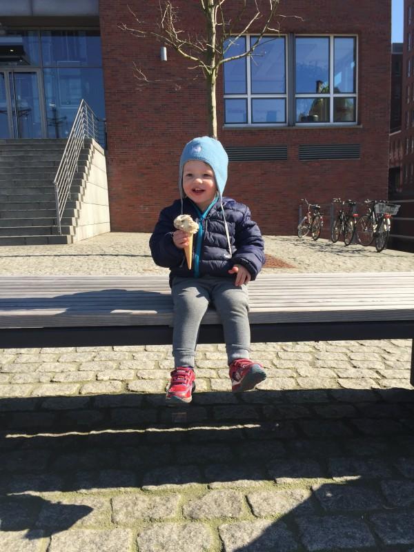 Eis essen in Hamburg