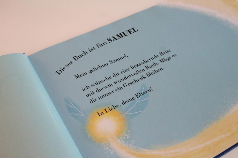 persönliche Widmung im Kinderbuch, personalisiertes kinderbuch